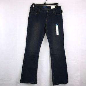 ARIZONA Dark Wash Bootcut Jeans Size 12 1/2 NEW!